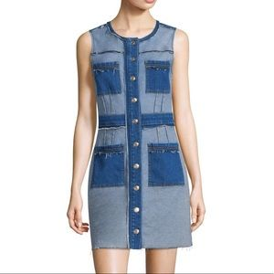7 for all mankind patchwork denim dress